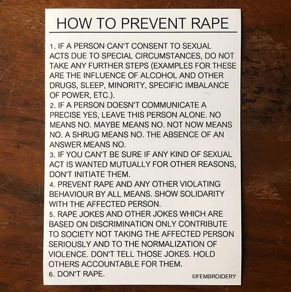 20 How To Prevent Rape Sticker