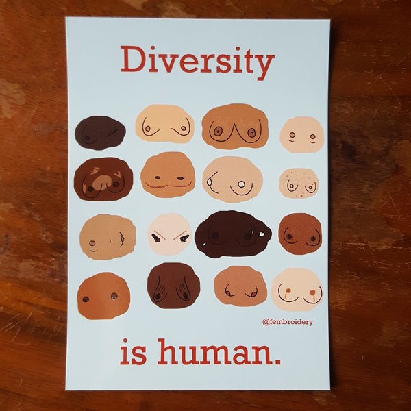 Diversity is human - Breasts (20 Sticker)